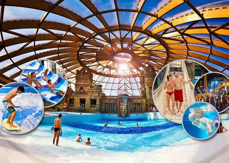 Európa egyik legnagyobb fedett vízi témaparkja egész éven át felejthetetlen szórakozást kínál minden korosztálynak.