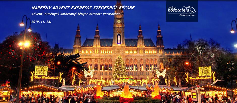 Ha advent akkor Bécs, ha Bécs akkor Élményvonat