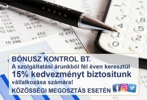 Bónusz Kontrol Bt promo