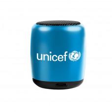 UNICEF Ajándék UNICEF VEZETÉK NÉLKÜLI MINI HANGSZÓRÓ (Fekete-Kék)