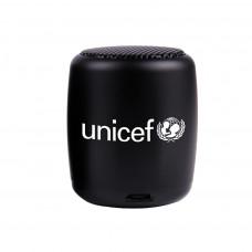 UNICEF Ajándék UNICEF VEZETÉK NÉLKÜLI MINI HANGSZÓRÓ (Fekete)